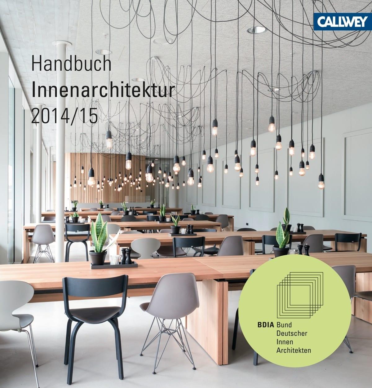 Innenarchitektur Literatur handbuch innenarchitektur 2014 2015 des bdia