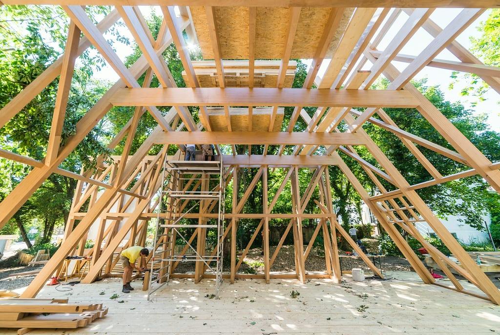 atelier bow wow und constructlab bauen fachwerk pavillon. Black Bedroom Furniture Sets. Home Design Ideas