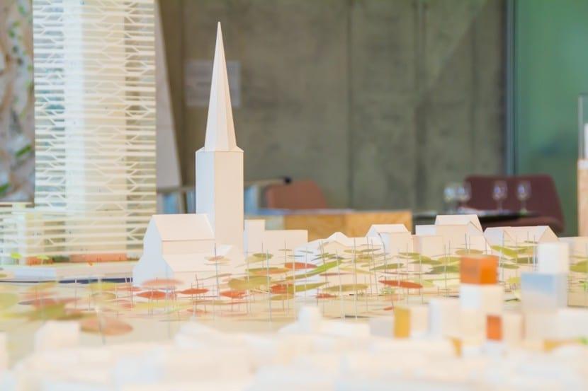 Nahaufnahme der Architekturmodelle aus Aarhus