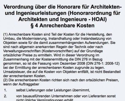 Architektenhonorar Hoai petition der bundesarchitektenkammer quot hoai verteidigen quot