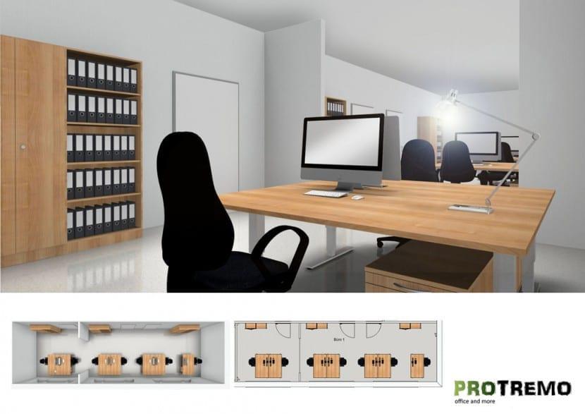 Büroraum-Planung