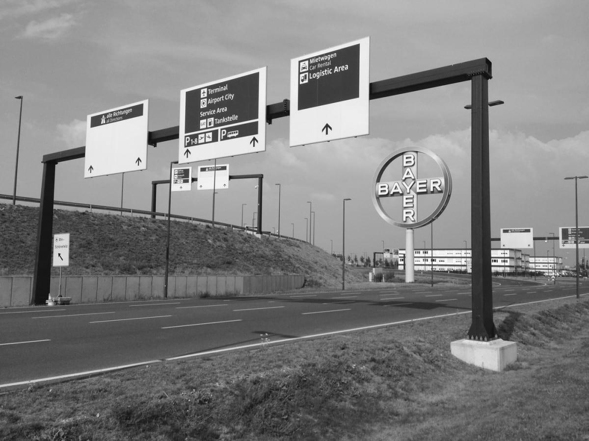 Abzweig Autobahn-Zubringer BER / Airport City (Foto: Eric Sturm)