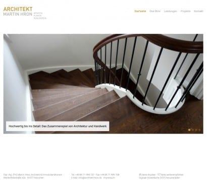 Individuelles Webdesign für Architekten