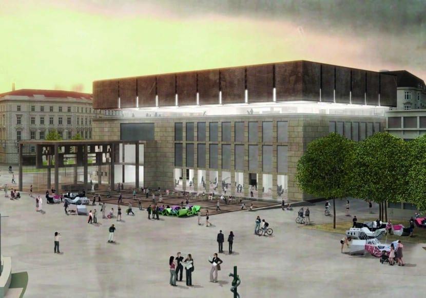 WIEN MUSEUM NEU: Winkler + Ruck mit Certov Architekten (Rendering Aussenansicht)