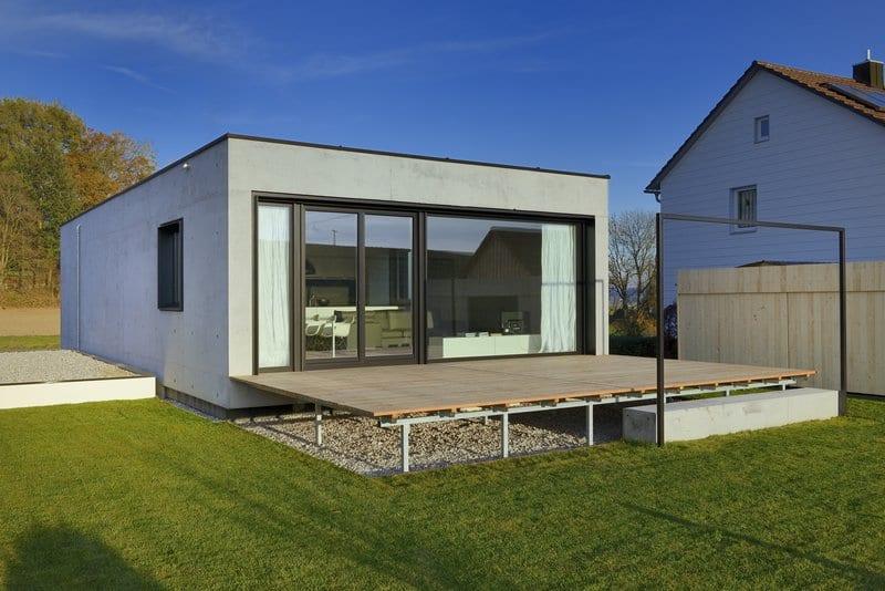 Das Obergeschoss mit Garten und Terrasse
