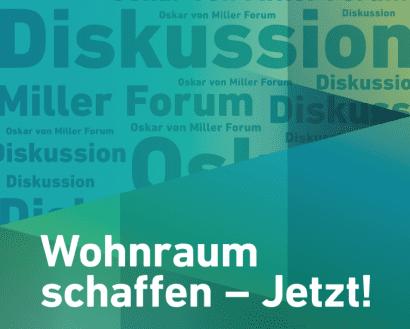 """Diskussionsveranstaltung """"Wohnraum schaffen – jetzt!"""""""