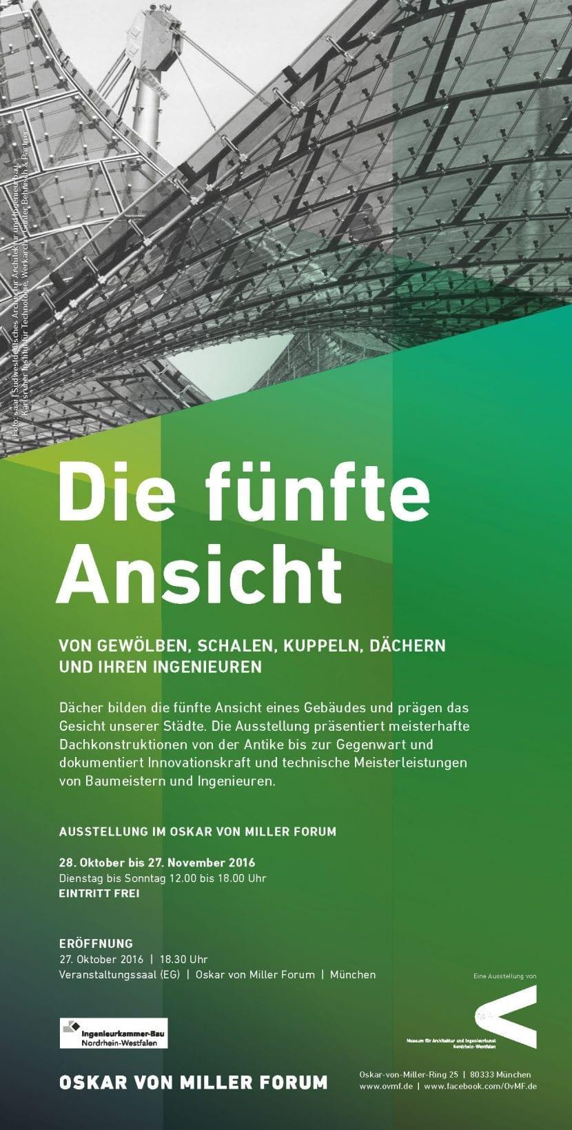 """""""Die fünfte Ansicht"""" im Oskar von Miller-Forum (Poster zur Ausstellung)"""