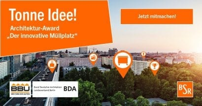 "Tonne Idee! Architektur-Award ""Der innovative Müllplatz"""