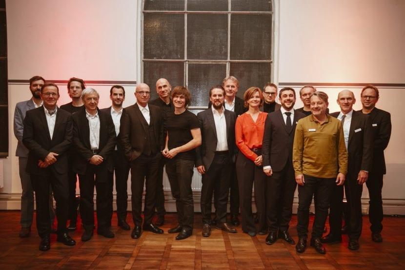 Gruppenbild: Jury, Nominierte und Preisträger des DETAIL Preis 2016 (Foto: Kathrin Heller, pixelanddot.com)