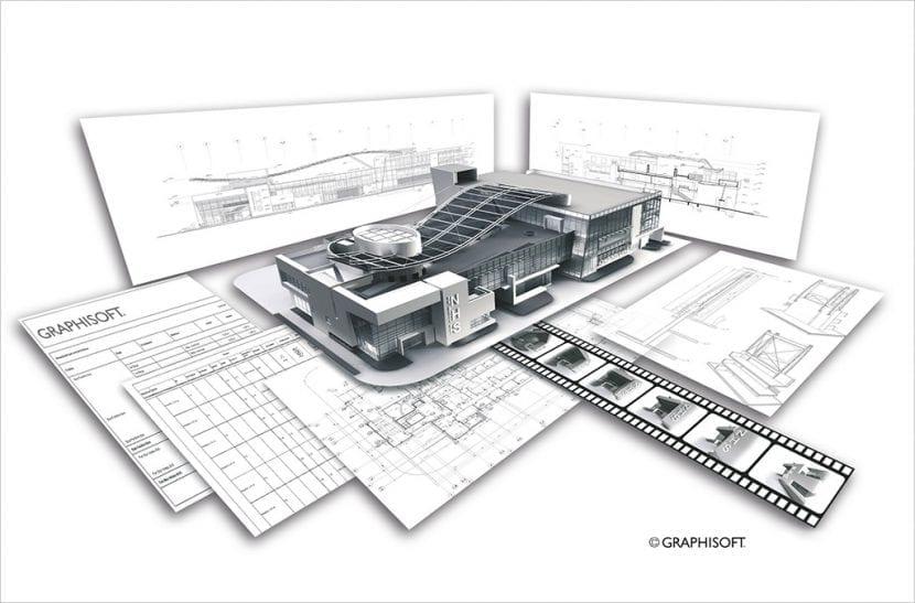 Aus einem digitalen Gebäudemodell können z. B. Grundrisse, Ansichten, Detailzeichnungen oder Pro-duktlisten generiert werden (Abbildung: Graphisoft)
