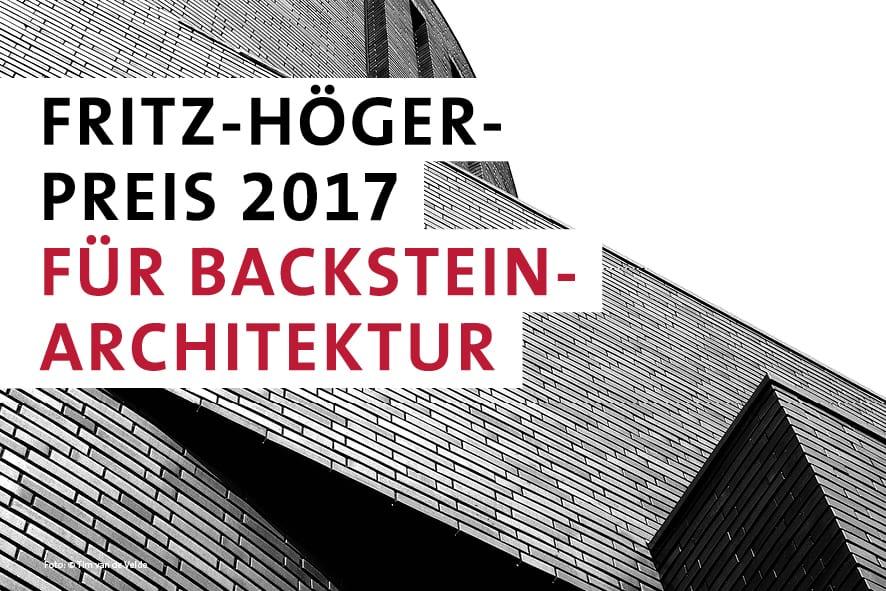 Einreichungsphase endet fritz h ger preis 2017 f r for Architektur 2017