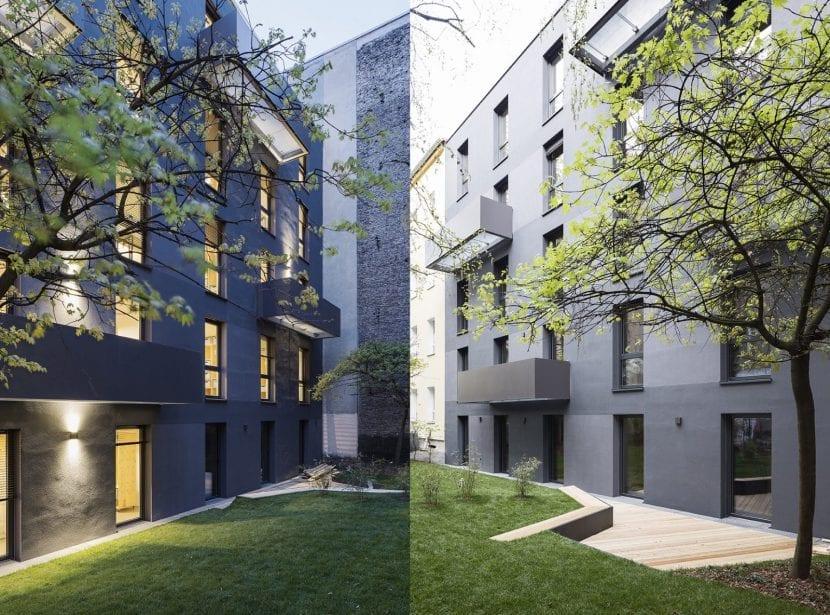 berlin moabit wohnhaus aus holz massiv elementen in. Black Bedroom Furniture Sets. Home Design Ideas