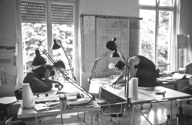 Architektinnen im Mannheimer Architekturbüro von Ingeborg Kuhler (Foto: Büro Ingeborg Kuhler)