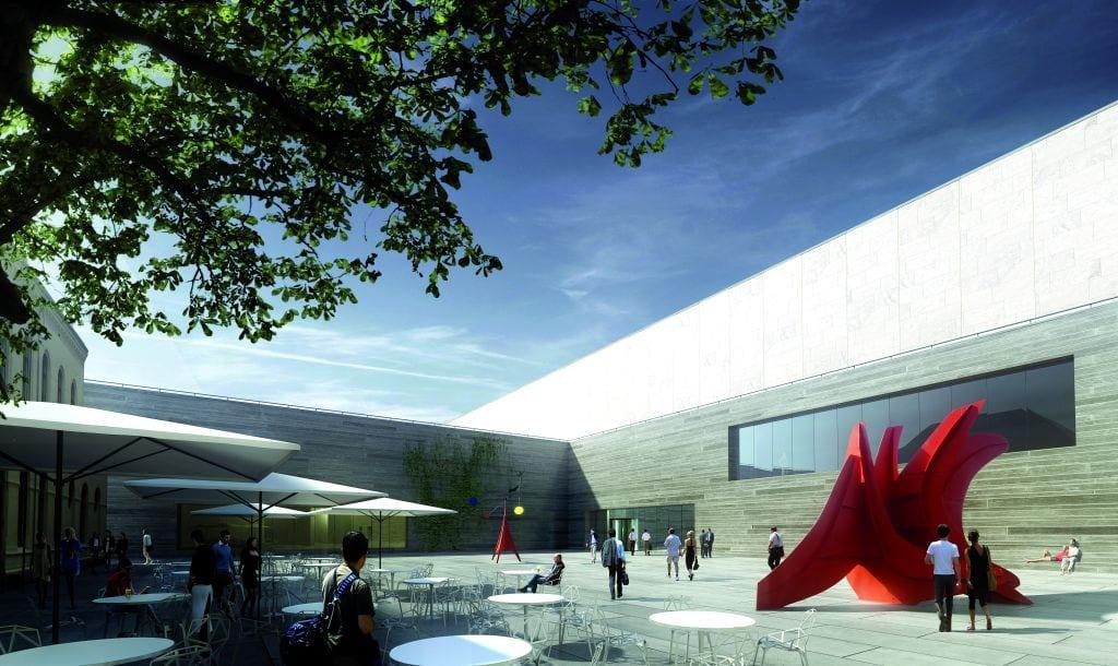 Aussenansicht: Die Piazetta (Abbildung: Architects Kleihues+Schuwerk)