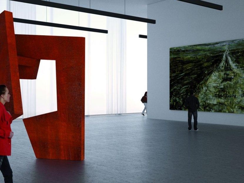 Innenansicht, Nationalmuseum Oslo (Visualisierung: Architects Kleihues+Schuwerk)
