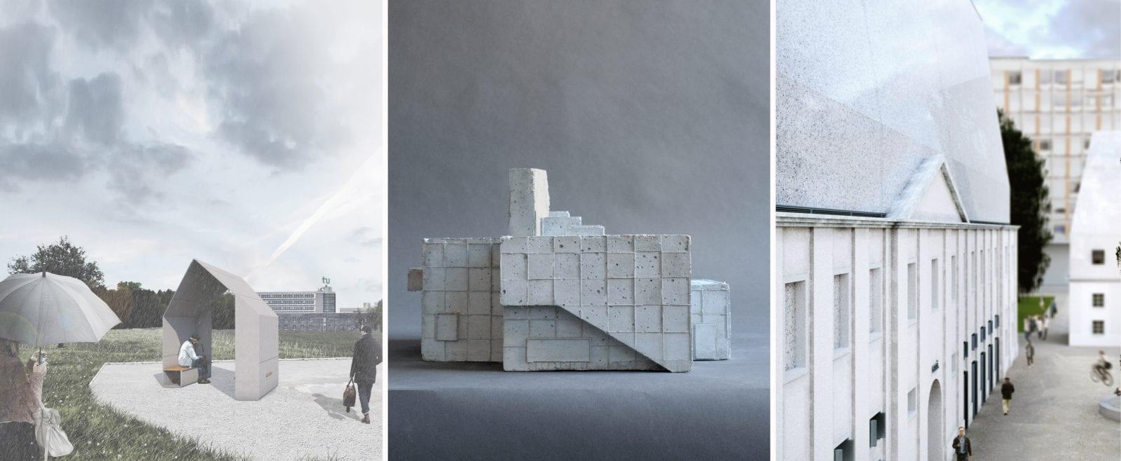 Die drei Preisträger des Concrete Design Competition 2017 © InformationsZentrum Beton