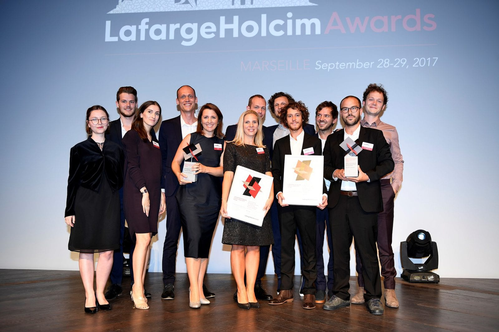 TETRA architecten und BC architects and studies aus Brüssel, bei der Preisverleihung des LafargeHolcim Award 2017 (Region Europa); Foto: LafargeHolcim