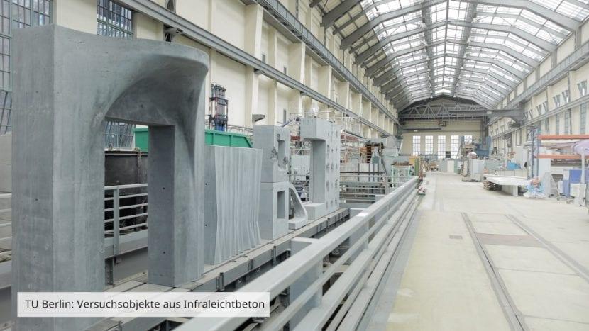 Infraleichtbeton-Versuche an der TU Berlin (Foto: Fred Wagner)