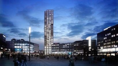 """Hochhaus """"Alexander Tower"""" am Berliner Alexanderplatz: O&O Baukunst erhält die Baugenehmigung für das höchste Wohngebäude der Stadt (Bild: O&O Baukunst / finest images)"""