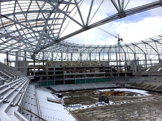 Baustelle der VTB-Arena, Moskau (Frühjahr 2018; Foto: Xella)