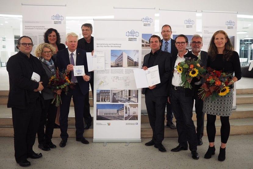 Preisverleihung Schulbaupreis NRW 2018, Fritz-Henßler-Berufskolleg, Dortmund (Foto SSP AG)