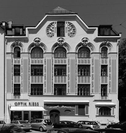 Bürogebäude Ainmillerstraße 22, München-Schwabing (Foto: Friedrich Poerschke Zwink Architekten, München)