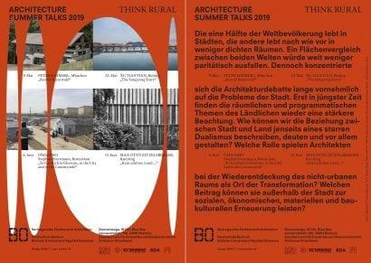 """""""Think Rural"""" – Bauen auf dem Land: Die Architecture Summer Talks (Grafik: FG Entwerfen und Baukonstruktion, Professur Kinzelbach, Hochschule Bochum)"""