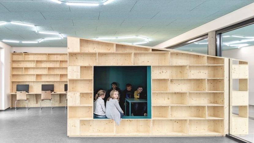 Bibliothek, Gesamschule Rheda-Wiedenbrück (Foto: Sigurd Larsen Design & Architecture)