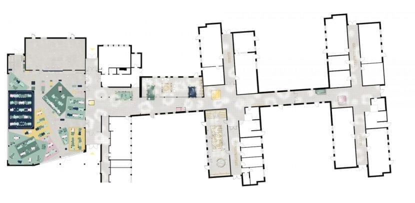 Grundriss Gesamschule Rheda-Wiedenbrück (Grafik: Sigurd Larsen Design & Architecture)