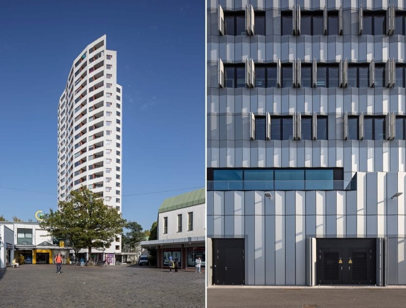 Aalto-Hochhaus (Bremen, Neue Vahr, links) und Thünen Institut, Bremerhaven (Fotos: © Kay Michalak / Fotoetage)