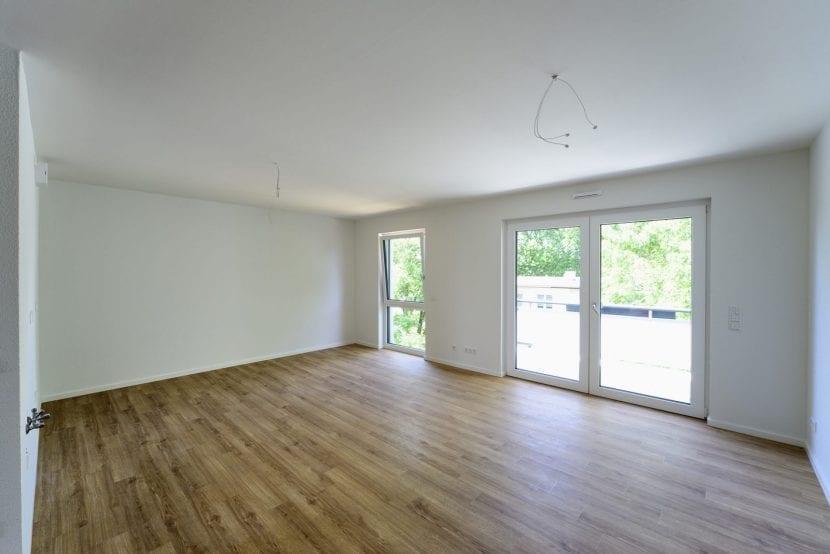 Wohnküche in einem Mehrfamilienhaus der Wohnungsgesellschaft Leverkusen (WGL) in Modulbauweise (Foto: ALHO)