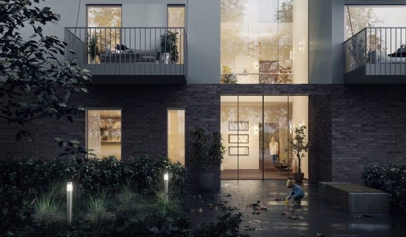 """Hauseigang: Beitrag von ALHO und KZA beim GdW-Wettbewerb """"Serieller und modularere Wohnungsbau"""" 2018 (Grafik: Koschany + Zimmer Architekten KZA)"""