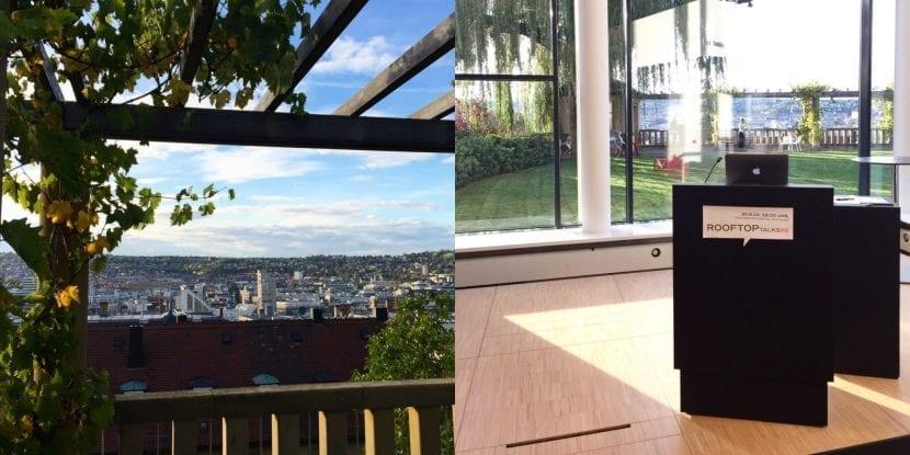 """Blick von der Dachterrasse des """"Haus der Architekten"""" auf die Dachlandschaft der Stuttgarter Innenstadt (Fotos: Eric Sturm)"""