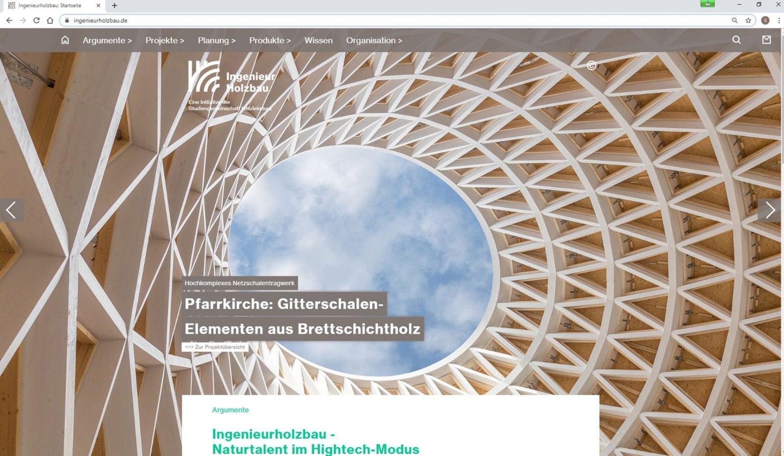 Screenshot: Pfarrkirche auf ingenieurholzbau.de (Foto: Martin Granacher)