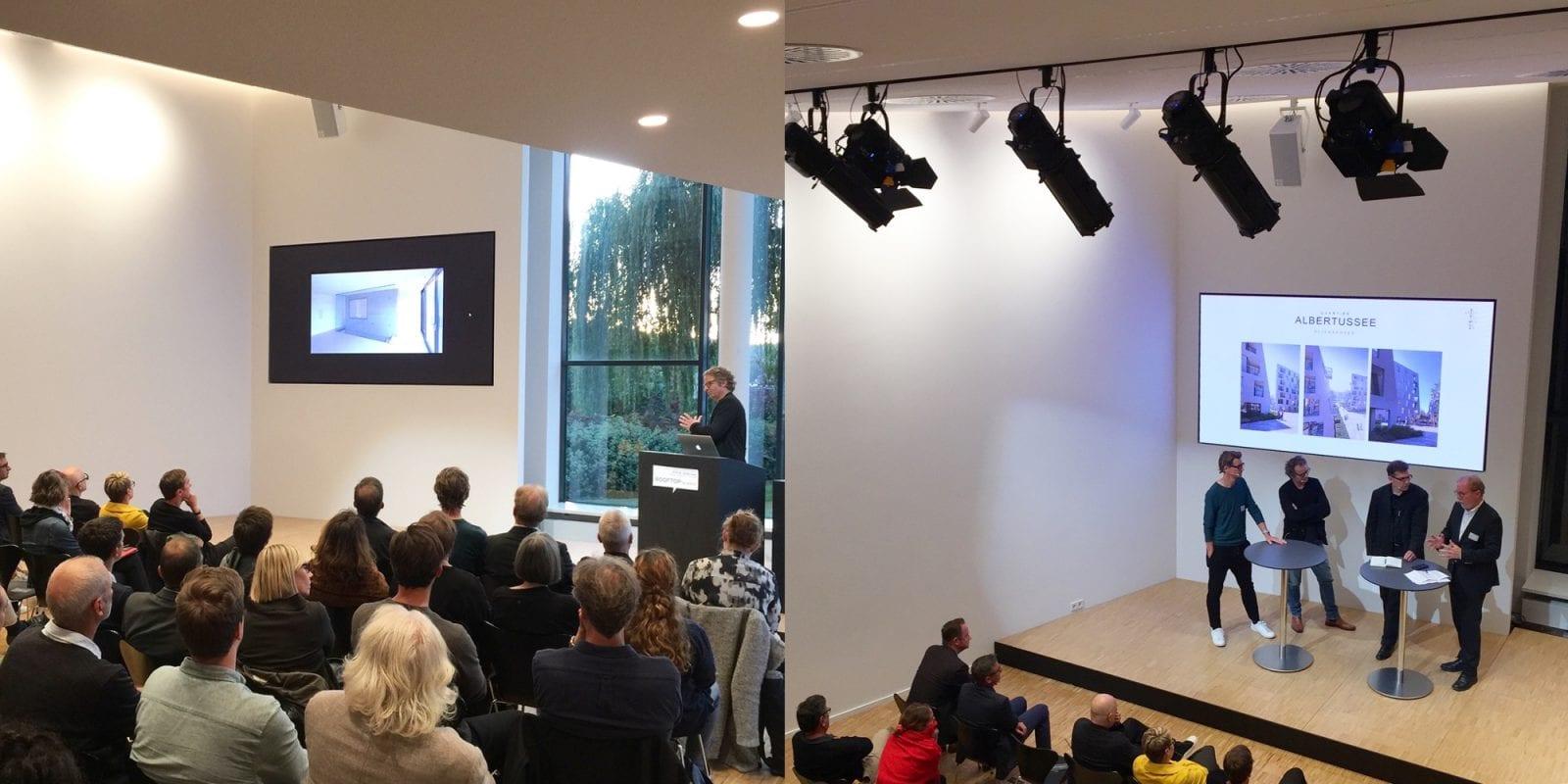 Vortrag von Henning Ehrhardt und die abschliessende Diskussionsrunde bei den dachkult-Rooftop Talks am 30.09.2019 im
