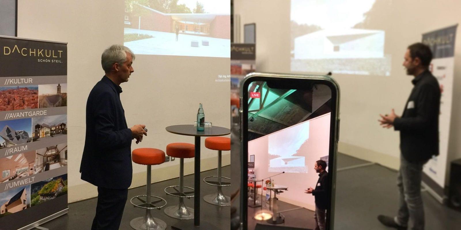 Die komplette Veranstaltung in Bochum (inkl. der Vorträge von Achim Pfeiffer und Prof. André Habermann, hier im Bild) wurden per Live-Stream auf Facebook übertragen. Fotos: Eric Sturm