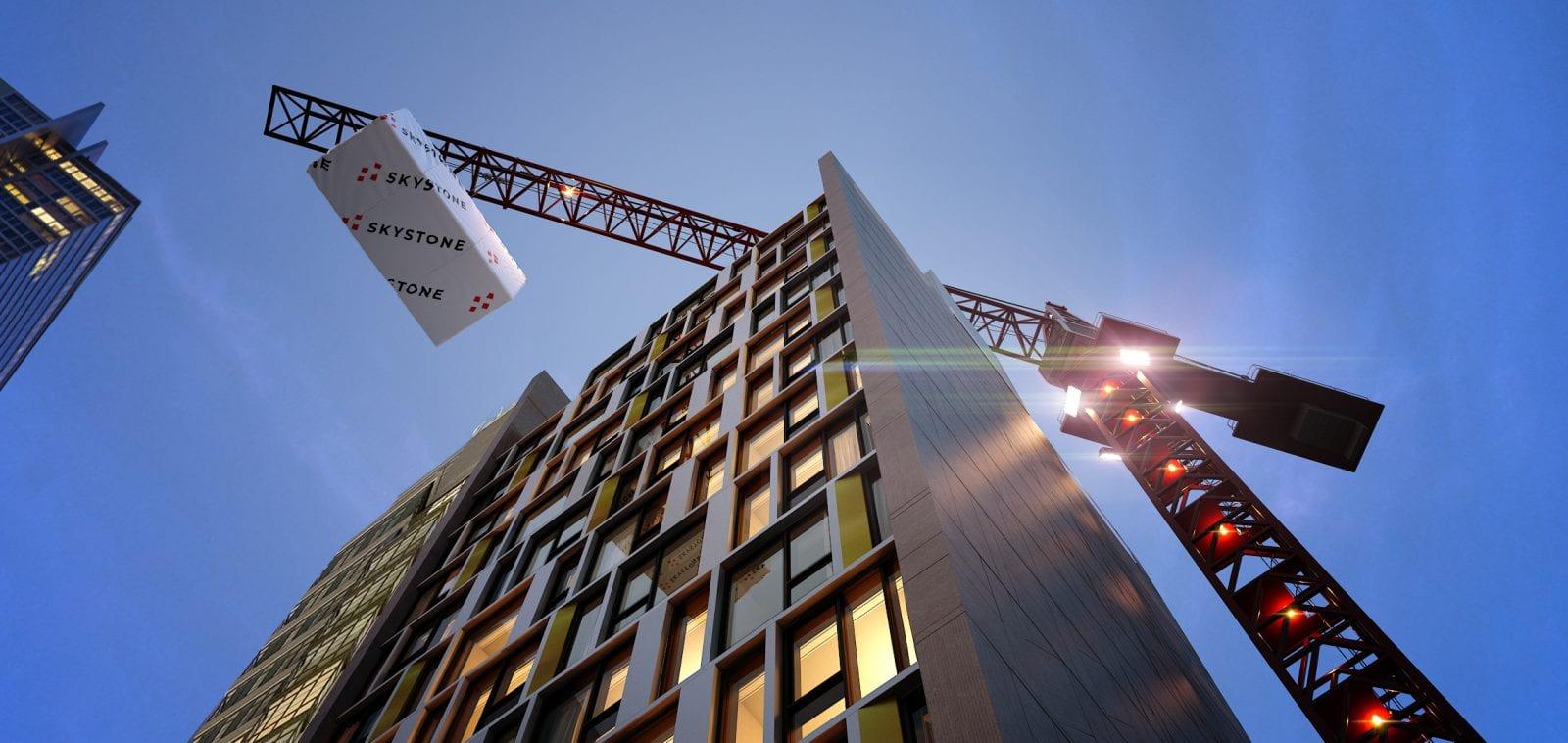 Beim Bau des höchsten modularen Hotels der Welt setzt Skystone auf die Produkte von Autodesk (Foto © Skystone)