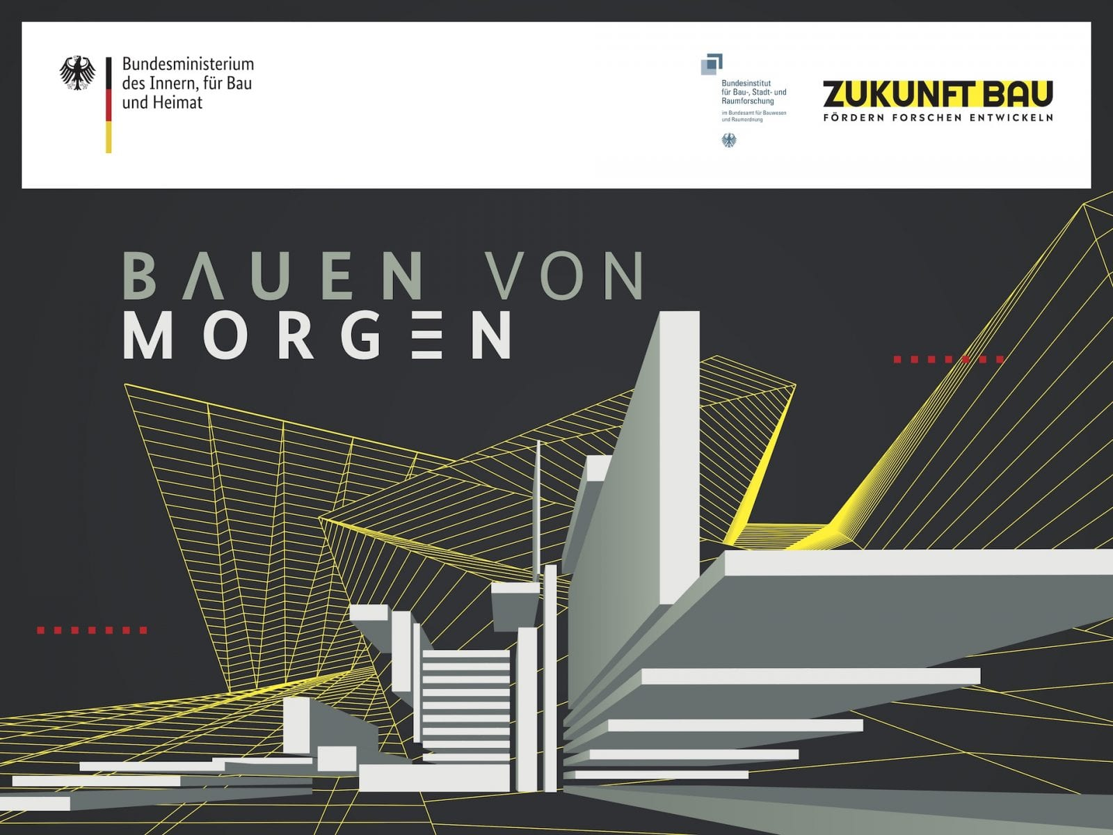 """Gesprächsreihe """"STUDIO Talk"""" auf der bautec 2020 in Berlin (Grafik: BMI / BBSR)"""