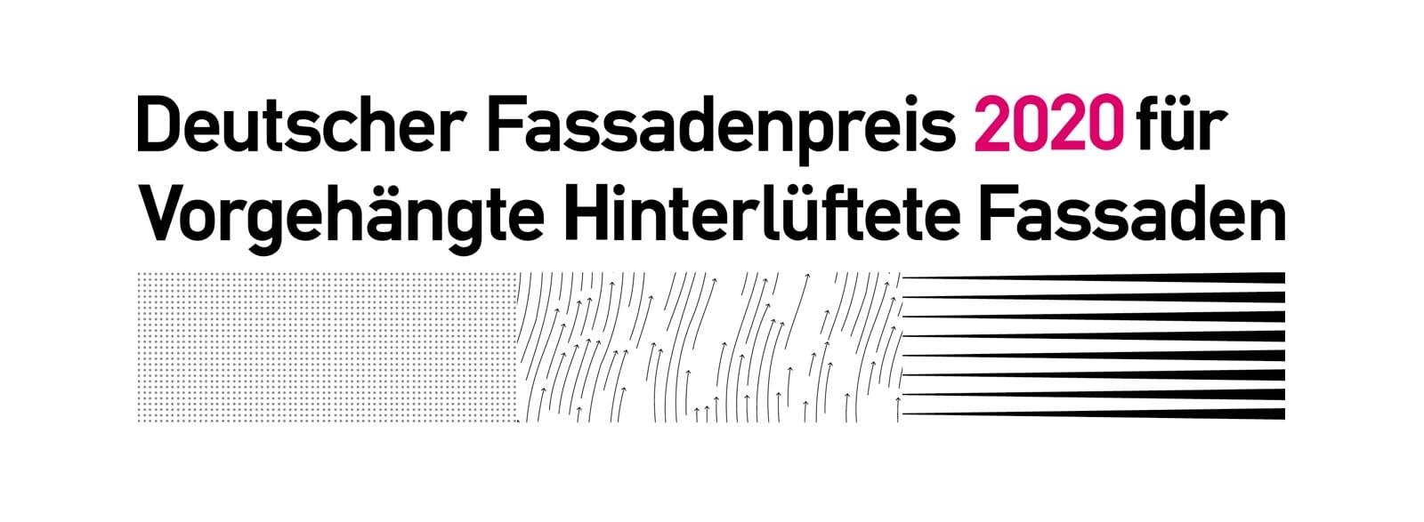 Deutscher Fassadenpreis 2020 für Vorgehängte Hinterlüftete Fassaden (VHF) ausgelobt (Grafik: FVHF)