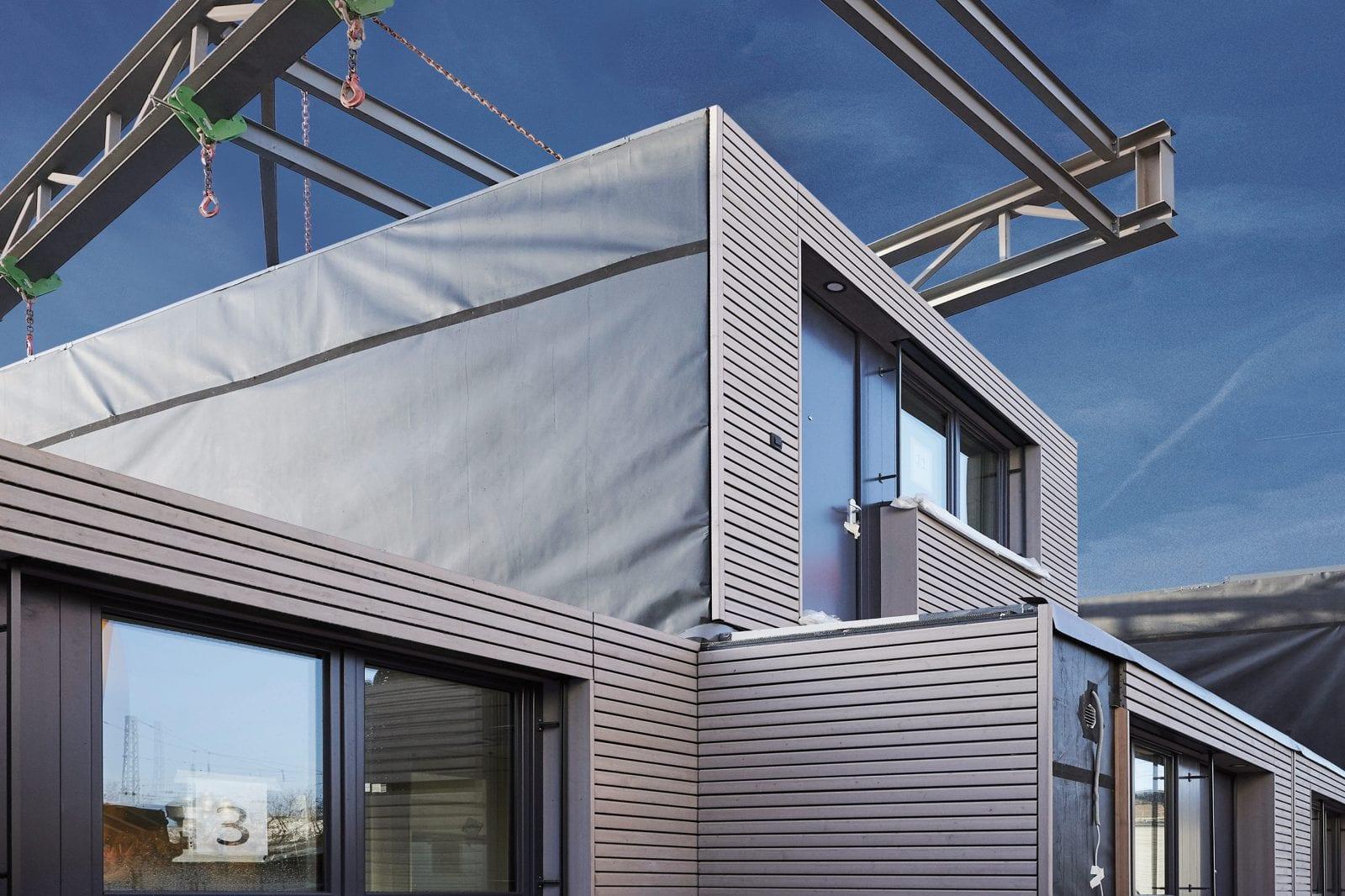 Einzelmodule von aktivhaus, die zu komplexen Wohngebäuden zusammengesetzt werden können (Foto: Peter Oppenländer)