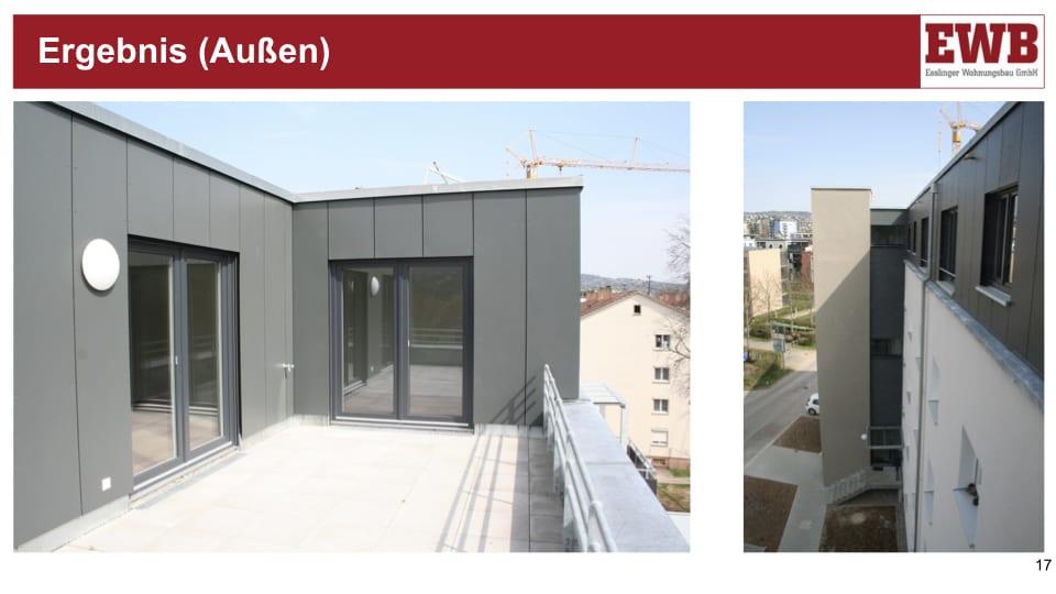 Aufstockung und Sanierung von EWB-Mehrfamilienhäusern in der Weilstraße, Esslingen-Pliensauvorstadt (Fotos: lpundh Architekten)