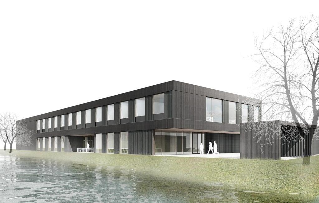 Landesanstalt für Bienenkunde von Lanz · Schwager Architekten BDA und merz, kley und partner GmbH (Tragwerksplanung); Grafik: Institut für Bienenkunde