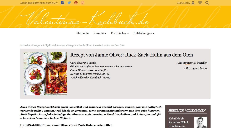 Ein Rezept von Jamie Oliver auf Valentinas-Kochbuch.de
