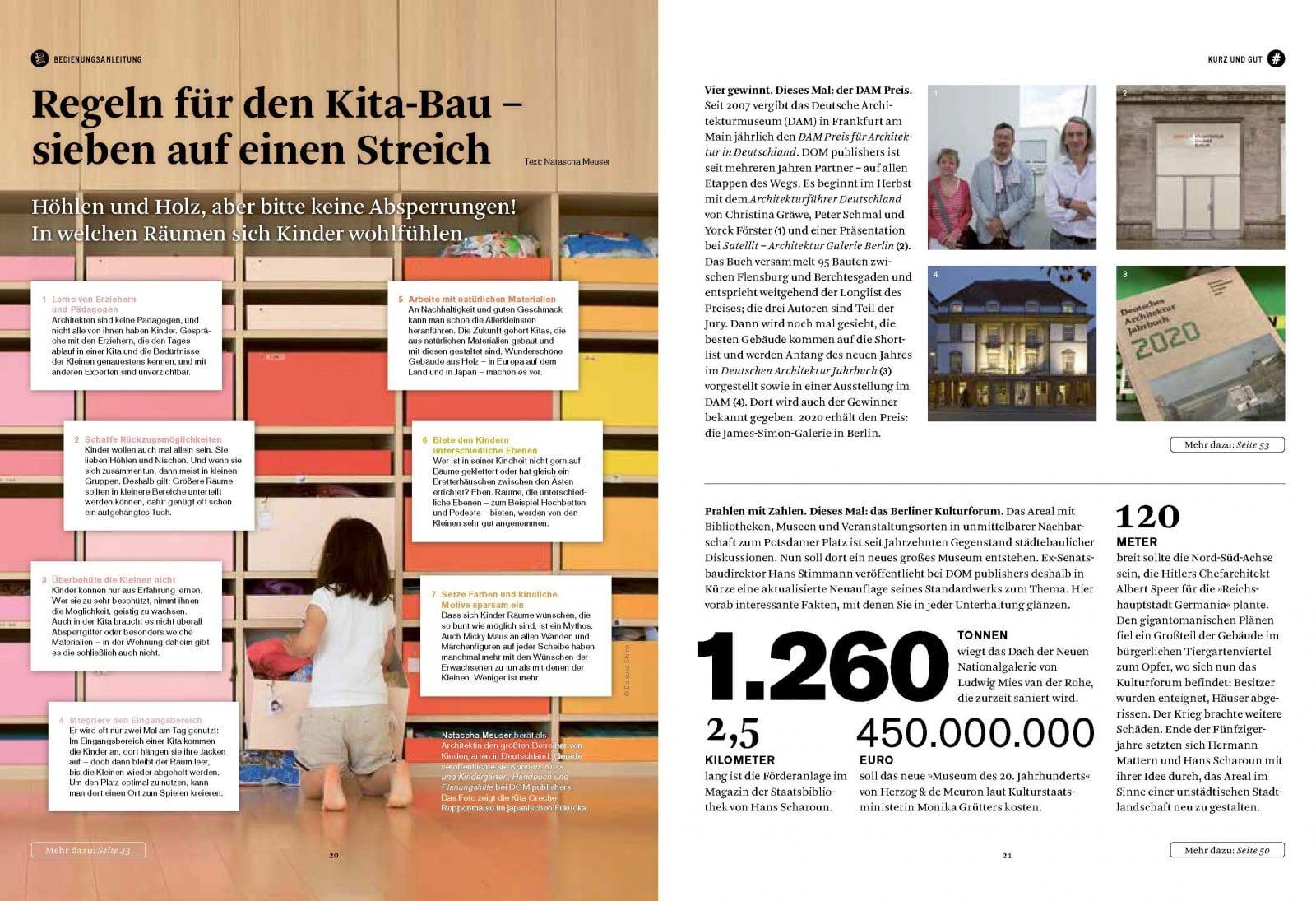 DOM magazine 01/2020, Seiten 20/21 (Bild: DOM publishers)