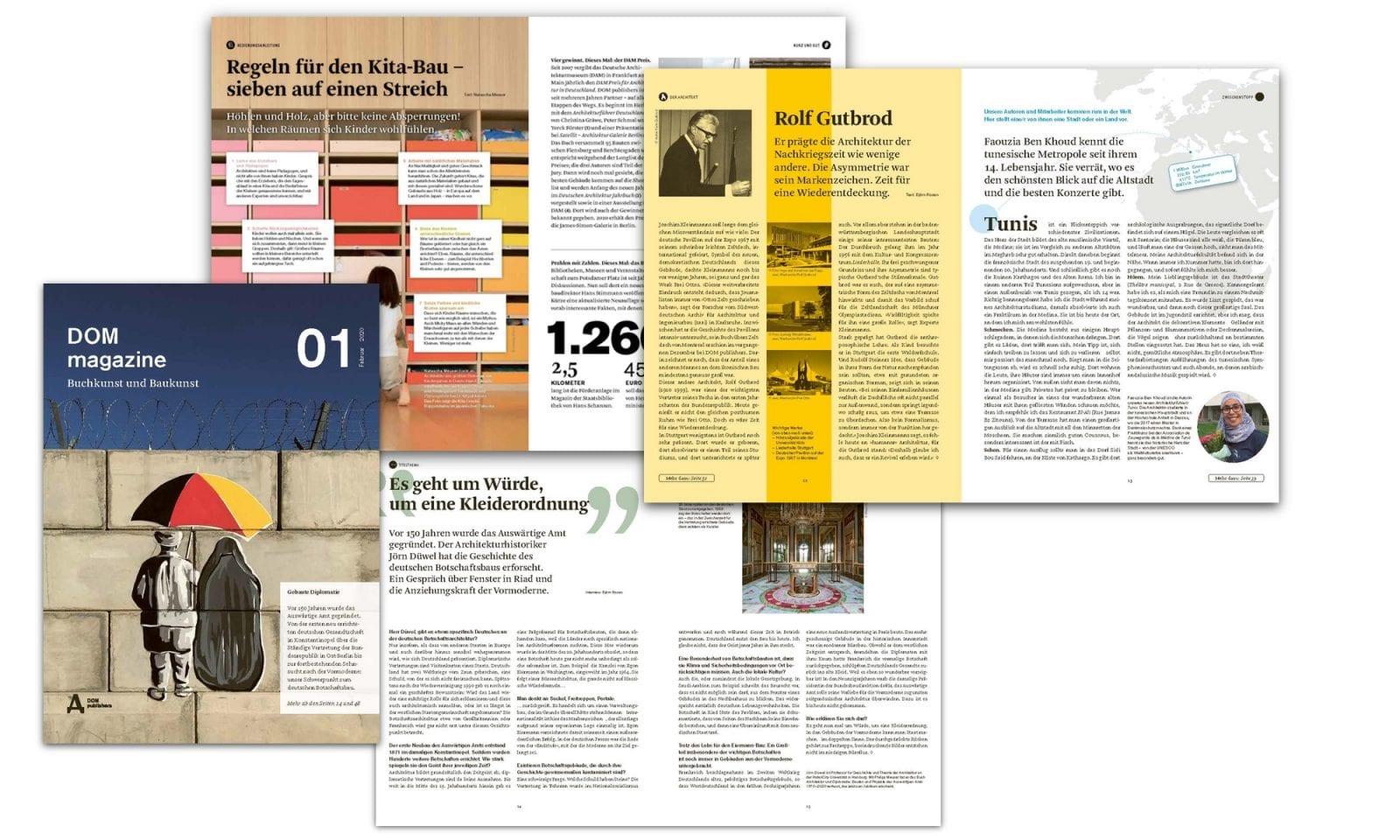 DOM magazine 01/2020 (Abbildungen: DOM publishers)