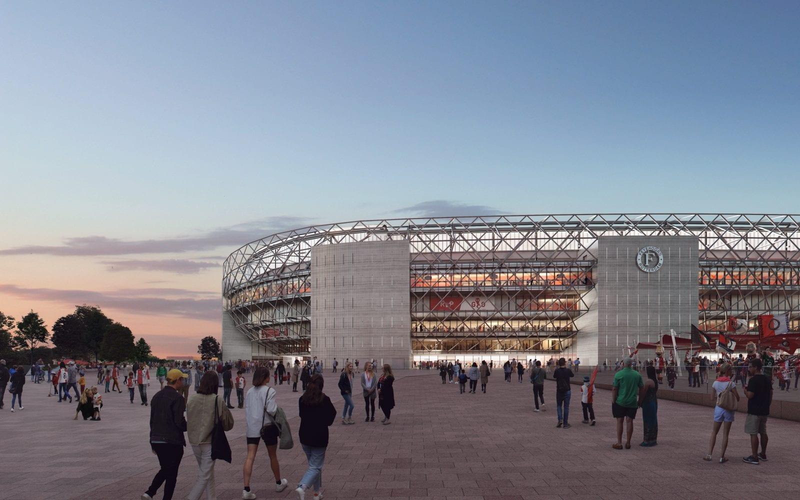 Das neue Fußball-Stadion für Feyenoord Rotterdam (© Image courtesy of OMA and Beauty & The Bit)