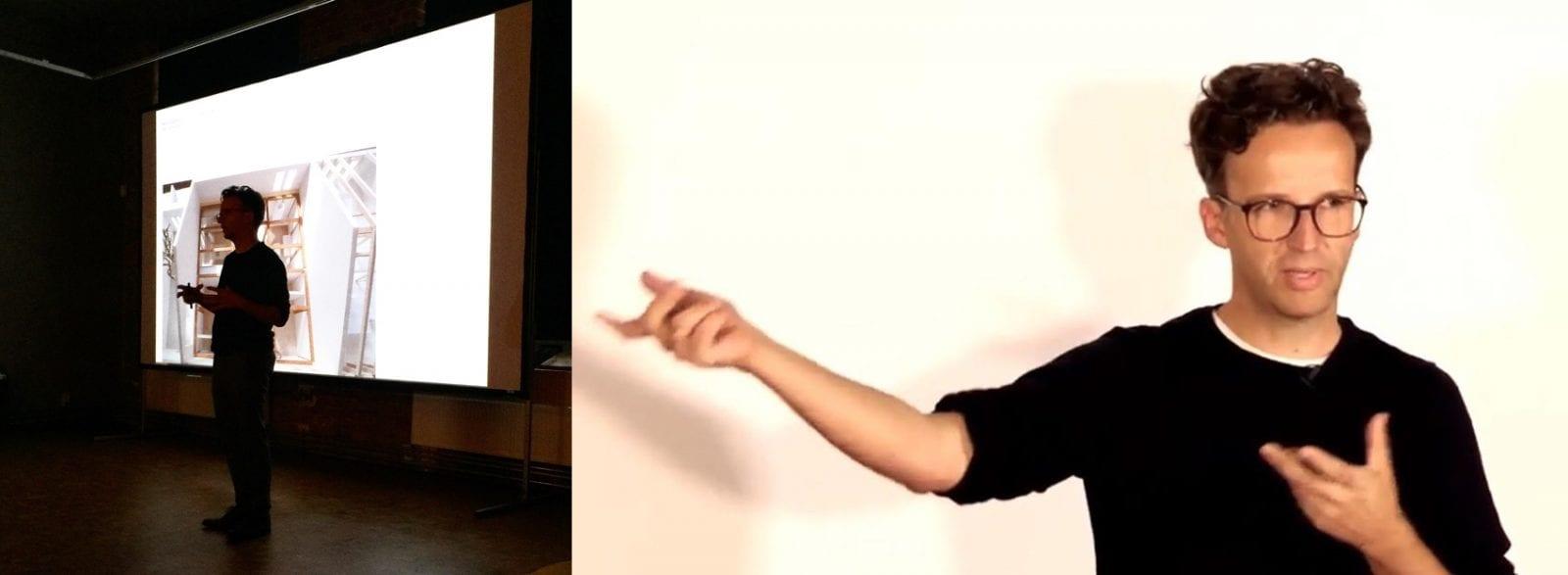 Vortrag von Sebastian Thaut (atelier ST, Leipzig) bei den Dachkult-Rooftop Talks #9 (Fotos: Eric Sturm und Dachkult)
